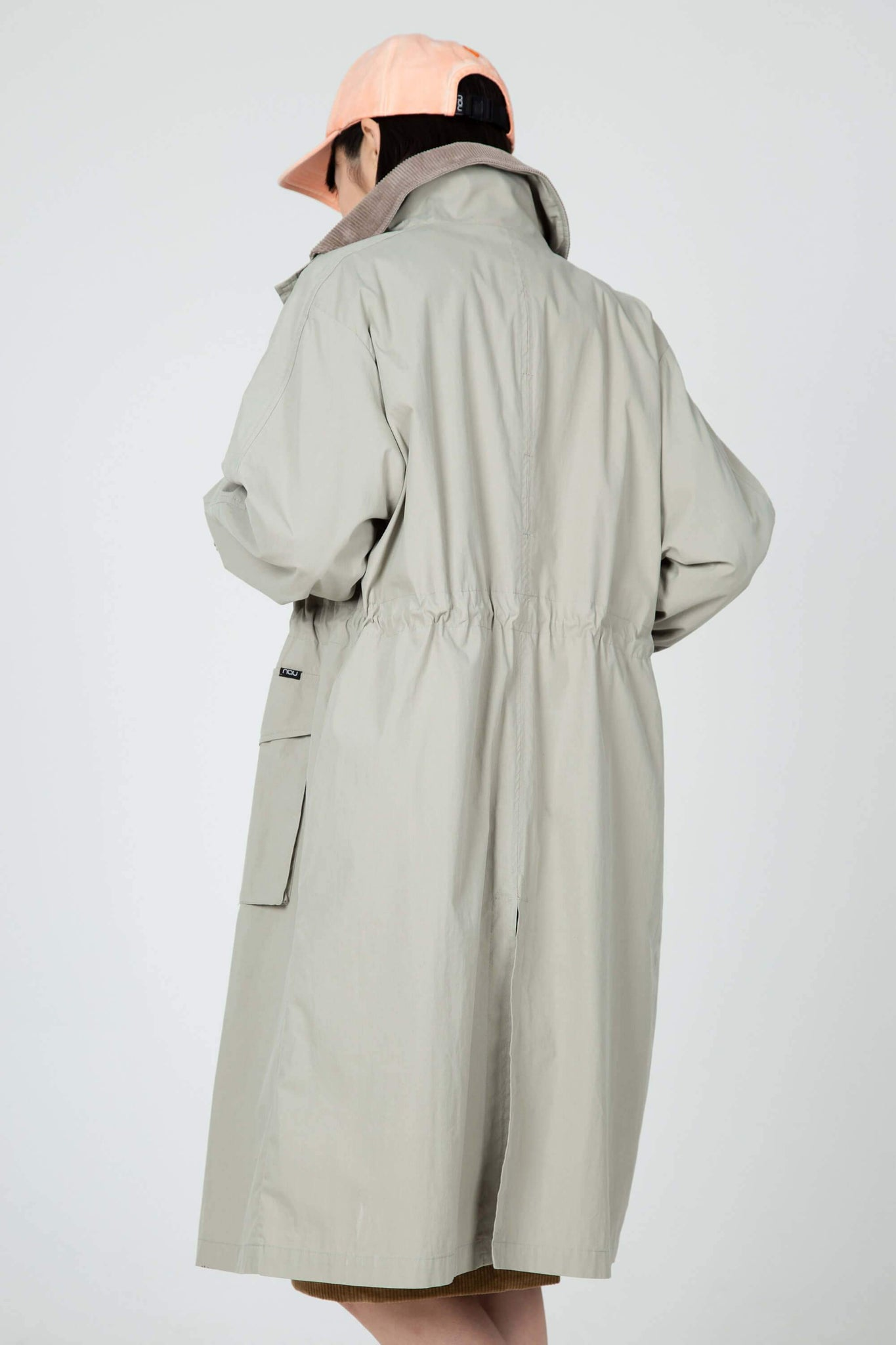 women's axis long trench coat - beige
