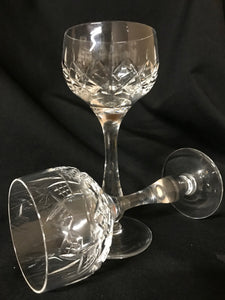 Lead Crystal Wine Glasses | Set of 8 | 1960's