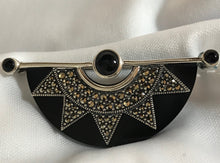 Load image into Gallery viewer, Art Deco Style Starburst Brooch | Onyx