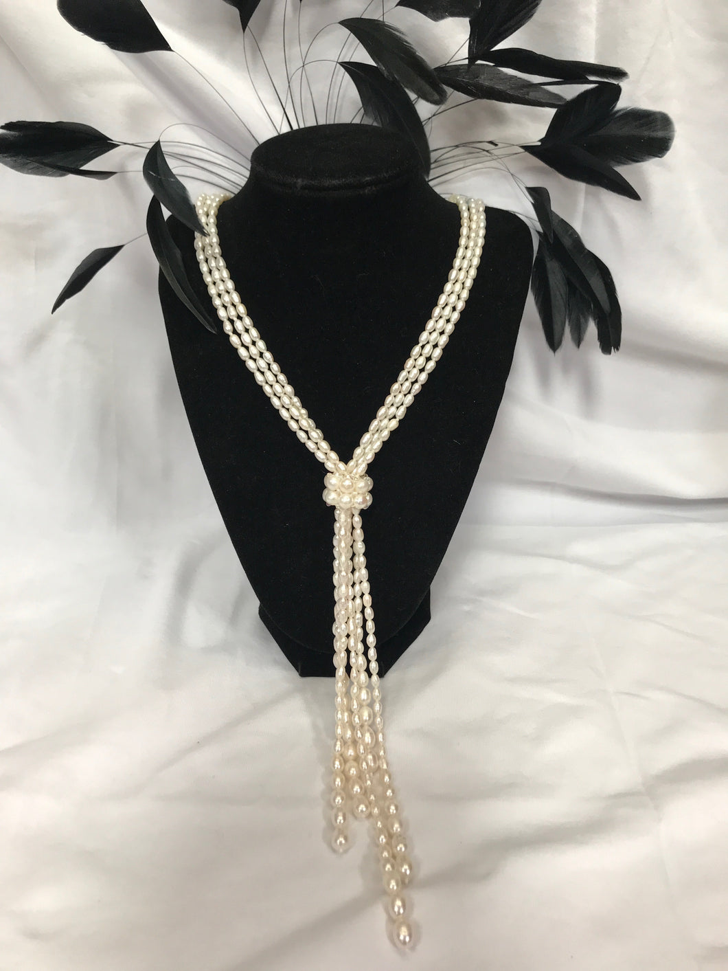 Freshwater pearl necklace | 3 strands