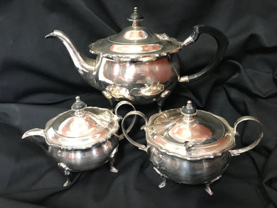 Silver tea set | 3 pieces | 1950's