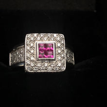 Load image into Gallery viewer, Contemporary 900 platinum ruby Ring Art Deco Style
