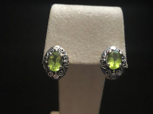 Contemporary Sterling Silver peridot Earrings