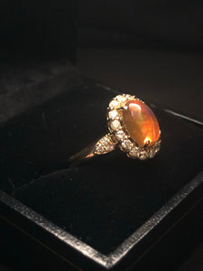Contemporary 18ct Yellow Gold Opal Ring