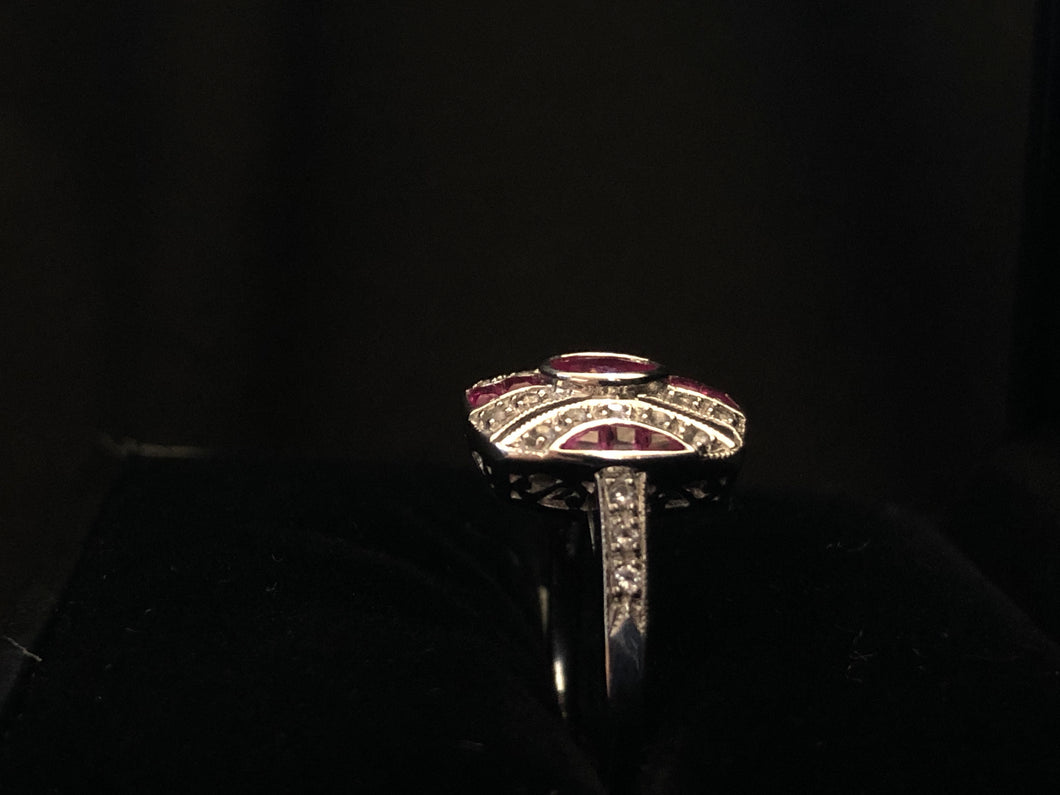 Contemporary Sterling Silver ruby