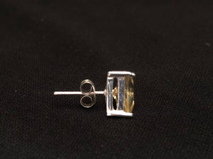 Contemporary Sterling Silver Citrine Earrings