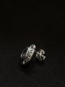 Contemporary Sterling Silver foil Earrings