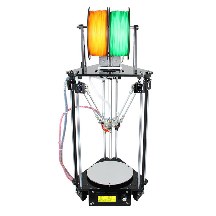 Geeetech Auto Leveling 3D Printer Dual Extruder Delta Rostock Mini G2s New Upgraded DIY Printing Kits LCD2004 Free - Primo Print