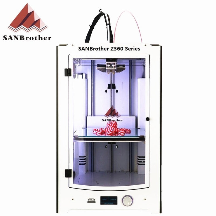 3D Printer 2018 Newest SANJIUPrinter Z360 Dual Extruders 3D Printer DIY KIT More Higher Than Ultimaker 2 Extended+ Top Quality - Primo Print