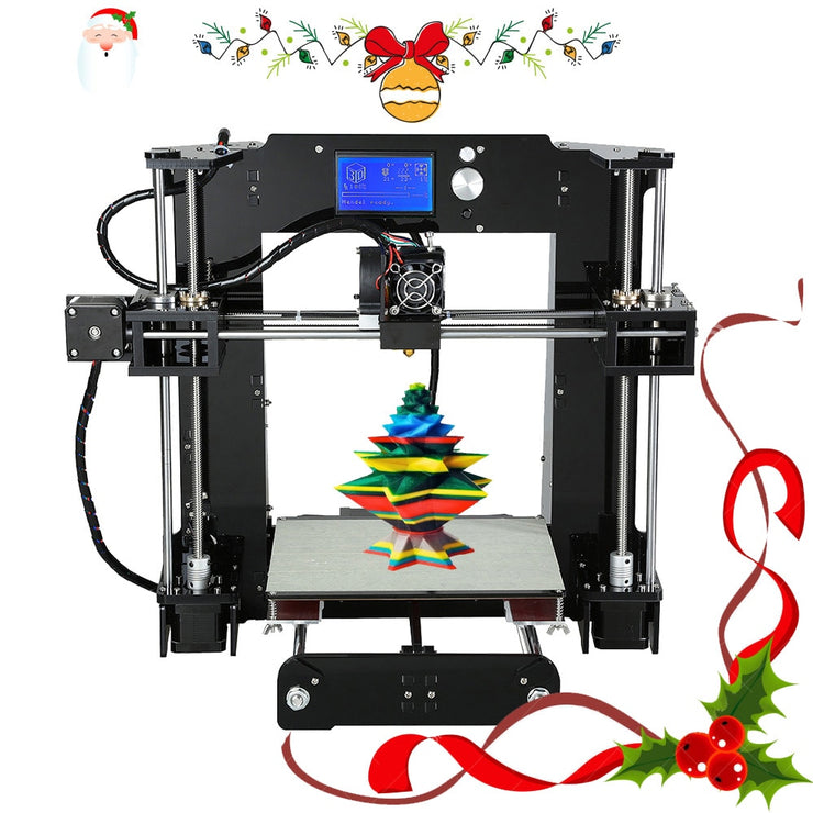 Easy Assemble Anet A6&A8 3D Printer Big Size High Precision Reprap i3 DIY 3D Printing Machine+Hotbed+Filament+SD Card+LCD - Primo Print