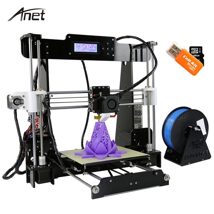 Anet A8 Impresora  Auto Leveling/Normal I3 Imprimante 3D DIY Kit Aluminum Hotbed Gift 8G SD Card 10M PLA Filament 3D Printer - Primo Print