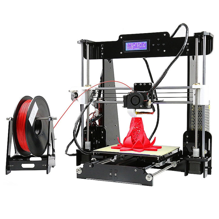 A8 3D Printer Precision Reprap for Prusa I3 Kit 1.75mm 0.4mm ABS/PLA/HIPS/WOOD/PVA LCD Screen 3D PRINTER - Primo Print