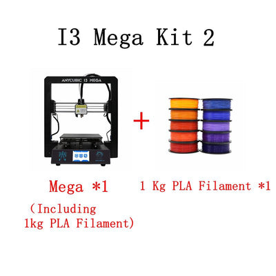 ANYCUBIC I3 Mega 3D Printer Kit With 1Kg PLA Filament Plus Size Color Touch Screen Newest Full Metal Frame Cheap 3d Printer Kit - Primo Print