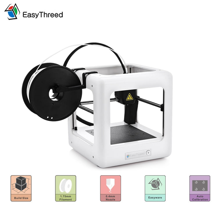 Portable 3D Printer Easythreed NANO Mini Educational Household 3D DIY Kit Printer One Key Printing - Primo Print