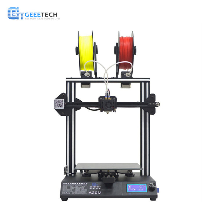 Geeetech A20M Mix-color Fast Assembly 3D Printer with Filament Fetector and Break-Resuming Capability 255*255*255 Print Volume - Primo Print