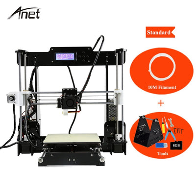 Anet Classical DIY 3D Printer A8 Impresora 3D Large Printing Size Prusa I3 with Filament SD Card and Installing Tools 3D Printer - Primo Print