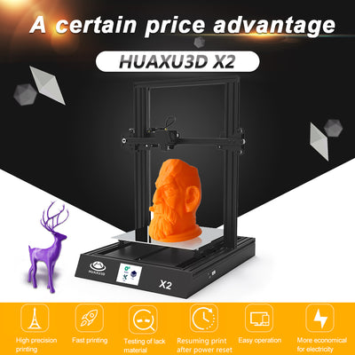 High Precision Desktop 3D Printer 300*300*400mm Printing Size Easy Assembly with Heatbed Touchscreen Display Free PLA Filament - Primo Print