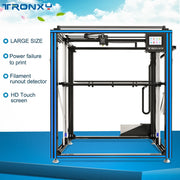 Tronxy X5S-500 3D Printer Large Size Printing 500 x 500 x 600 Aluminum 3d Printer 3.5 inch Touch Screen DC 12V USB 3D Printer - Primo Print