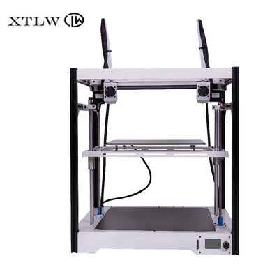 Newest Dual Extruder 3D printer Independent Dual Extruder  Large size  Sheet Metal frame High Quality Precision DIY kit LCD - Primo Print