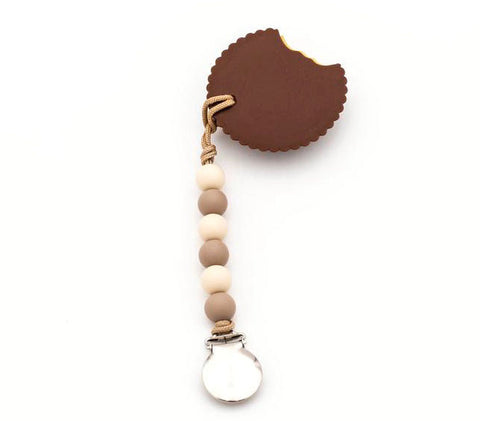 Peanut Butter Cup Teether + Mini Pacifier Clip