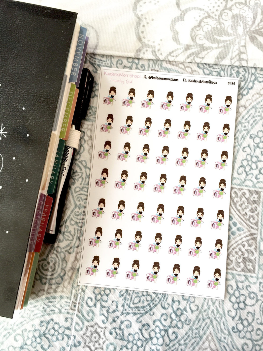 Laundry Girl Stickers - S196