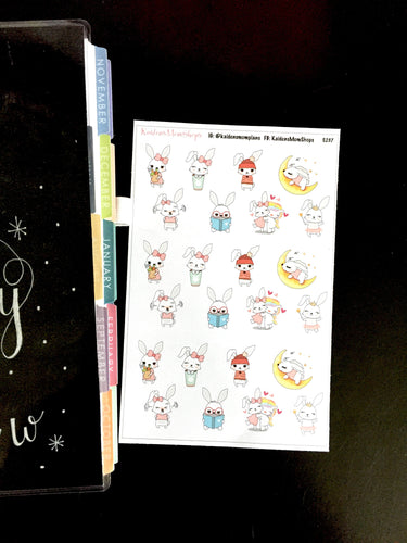 Lily Bunny Sampler Stickers - S237