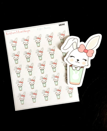 Lilly Bunny Coffee Mini Sheet and Die Cut - M034