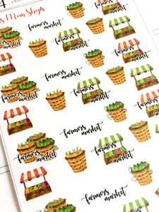Farmers Market Stickers - S240