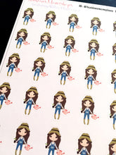 Gardening Girl Stickers - S210