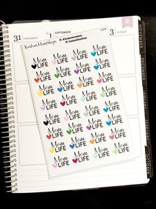Mom Life Word Sticker Sheet - S225