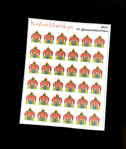 School House Stickers - Full or Mini Sheet - M041