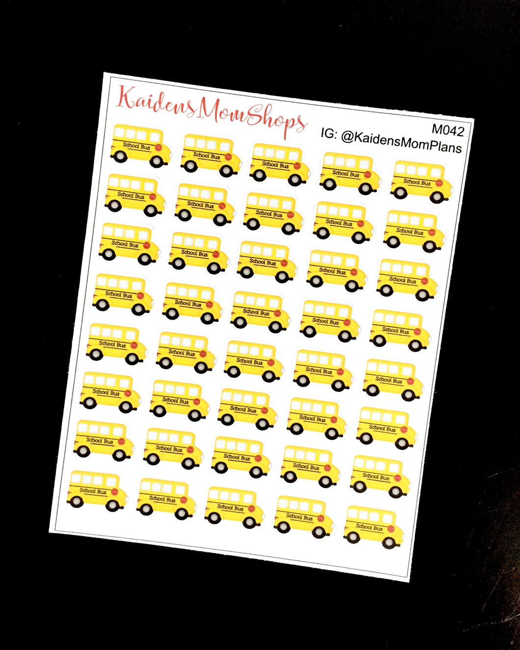School Bus - Full or Mini Sheet - M042