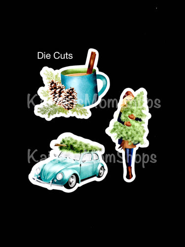 Warm and Cozy Pine Die Cuts - Set of 3