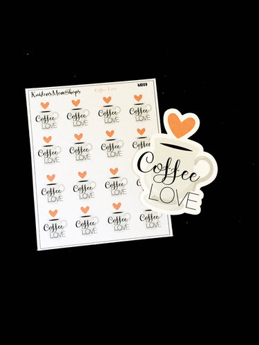 Coffee Love Mini Sticker Sheet and Die Cut