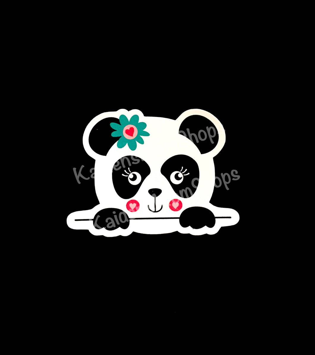 Peaking Panda Die Cut