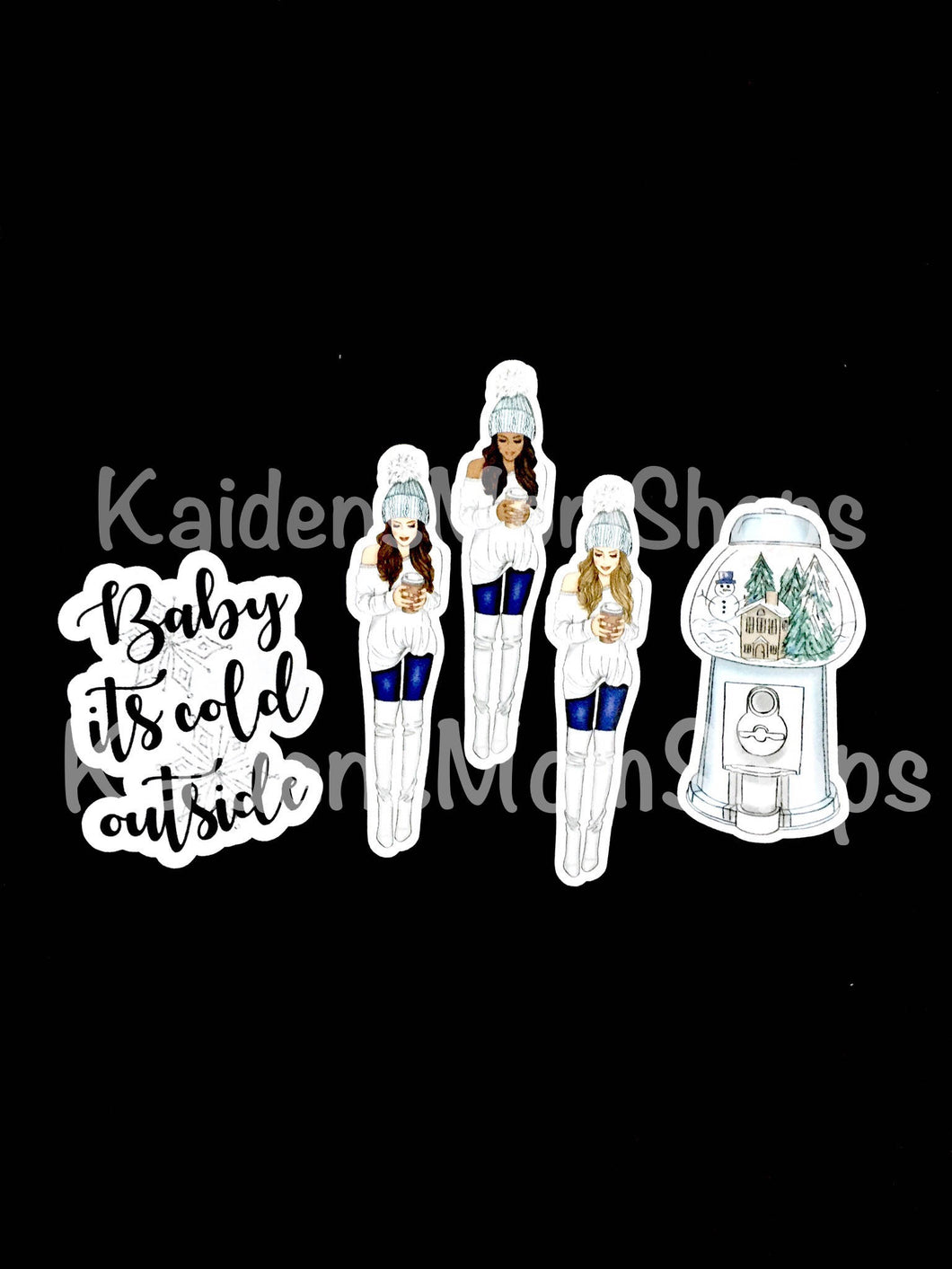 Cold Outside Set of 3 Die Cuts