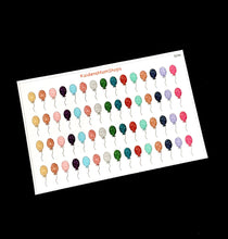 Glitter Birthday Balloons Stickers - S259