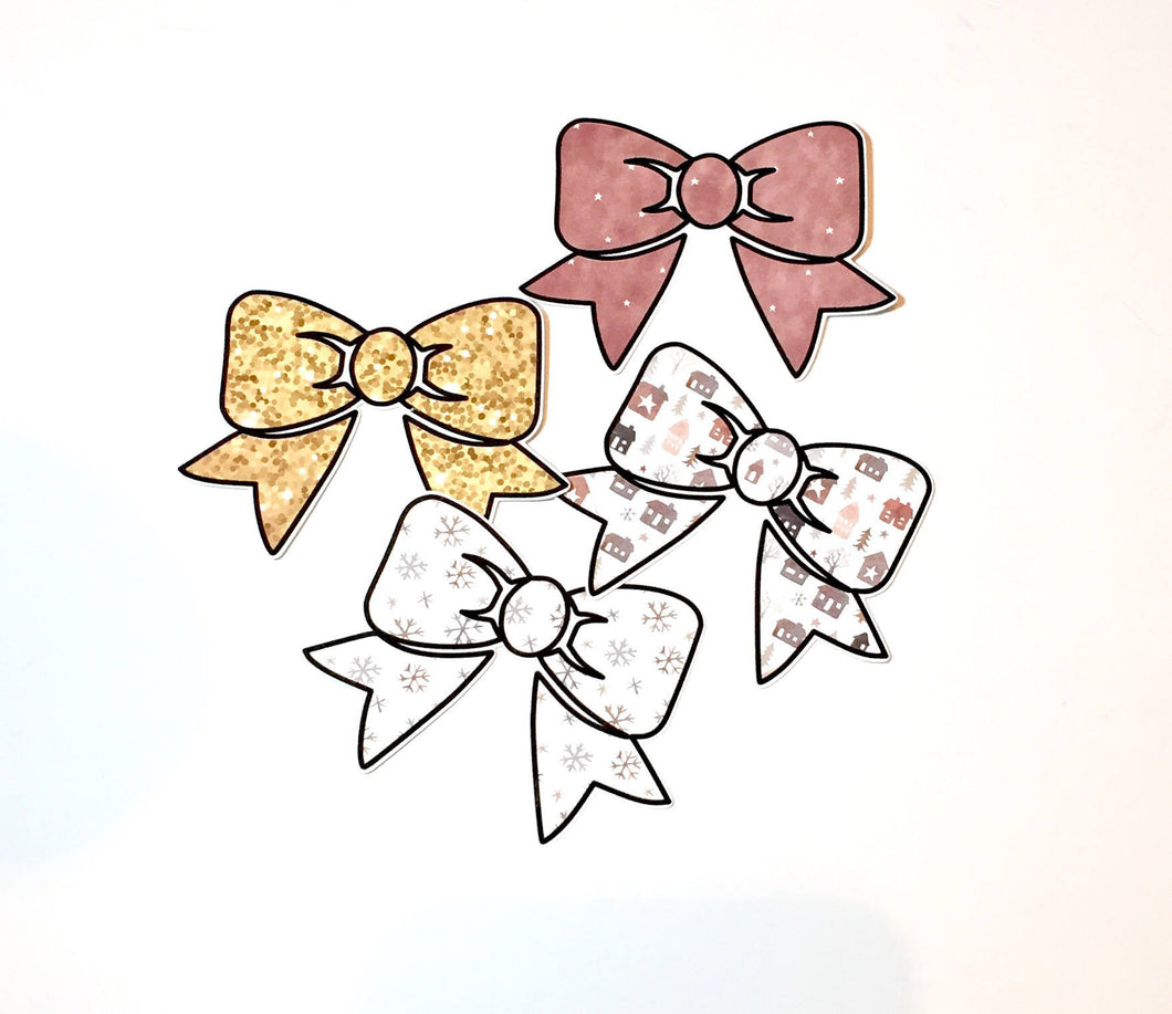 Winter Bow Die Cuts - Set of 4