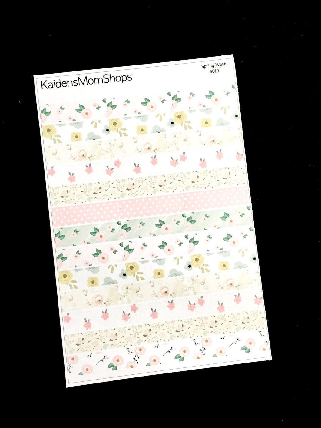 Floral Washi Sticker Pieces - S010
