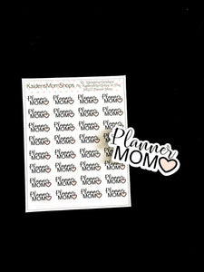 Planner Mom Mini Sticker Sheet and Die Cut - M022