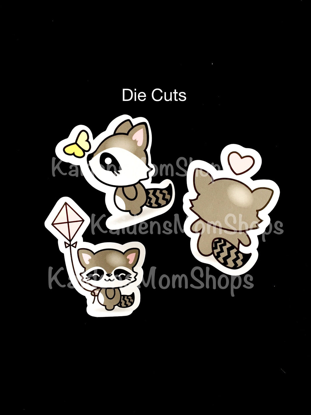 Raccoon Die Cuts - Set of 3