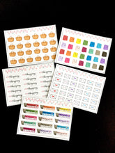 Teenies Set 5 - Shopping Collection - 5 Teenie Sticker Sheets and a Pocket
