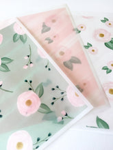 Teal Rose Vellum - Set of 3 - 8X10 Sheets