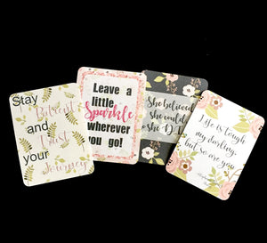 Inspirational Journal Cards - Set of 4