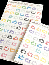 TV Sets Sticker Sheet - Full or Mini Sheet - F.012