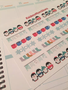 Winter Daily Banners Stickers - S073