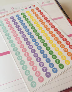 Asterisk Dot Stickers - S108