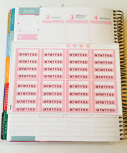 Habit Tracker SideBar Stickers - S106