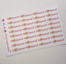 No Spend Stickers - S094