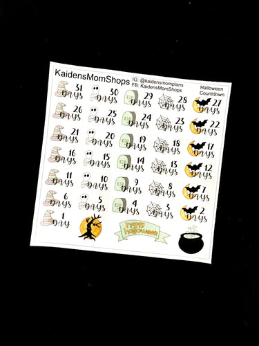 Halloween Countdown Sticker Sheet